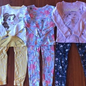 Disney Princess Toddler Girls Pajama Bundle